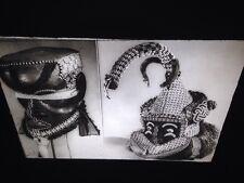 Kuba Congo-Mboom Mashamboy Helmet Masks- African Tribal Art 35mm Slide