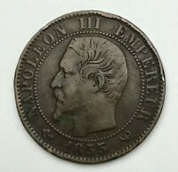Dated : 1855 W - France - Cinq Centimes - 5 Centimes Coin - Napoleon III