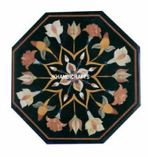"""24"""" Marble Side Corner Table Top Terrific Design Inlaid Work Home Decor"""