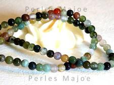 Lot de 86 perles agate indienne naturelles rondes assorties 4.5 mm environ
