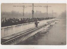 Paris Crue De La Seine Point De Tolbiac France 1910 Flood Postcard 399b