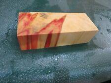 FF- FLAME BOX ELDER BURL  DELUXE KNIFE BLOCK/SCALES/ CALLS/ PEN BLANKS--F--53