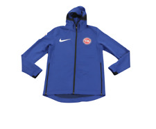 Nike NBA Authentics Detroit Pistons Game Worn Warm Up Showtime Hoodie L Tall