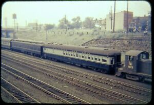 Original Railroad Slide OSLD B&O Obs Car + CNJ 1012 circa 1950s