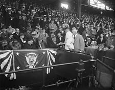 Eleanor and Franklin Roosevelt baseball game Griffith Stadium - New 8x10 Photo