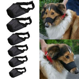 Pet Dog Adjustable New Mouth Muzzle Cover Training Bark Bite Chew Control Black
