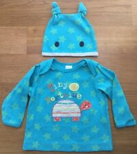 MINI CLUB @ Boots Turquoise BLUE TINY TORTOISE TOP & HAT Age 3-6 months