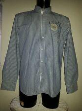 Herrenbusinesshemd, langarm, von TOM TAILOR, Gr. L, blauweiß längsgestreift