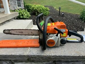 Stihl ms 180C chainsaw comfort package easy pull/quick adjust chain runs great