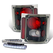 1973-1987 CHEVY C/K SERIES TRUCK REAR BRAKE TAIL LIGHT CARBON+LED BUMPER RUNNING