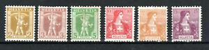 Switzerland 1908-09 set to 15c MH
