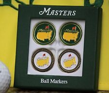 The Masters 2013 Four Pack Ball Markers - Two Green & 2 Black Trim
