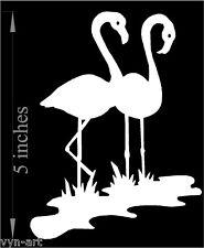 Flamingo - Aquatic decal for your car!  (Choose any color!) premium cutout vinyl