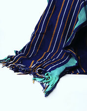 Traditional Woven African Aso-oke Throw Blanket 58in Wide 78in Long (Violet)