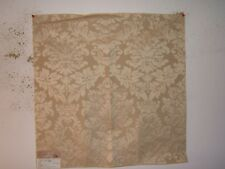 "Highland Court ""Angaline Floral Damask Brocade"" fabric remnant, color parchment"