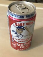 Vintage Babe Ruth Red Rock Cola Can Tin 12 Oz