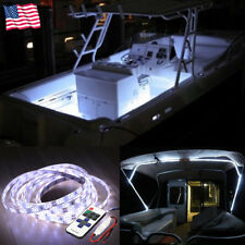 Wireless 16 ft White LED Strip Kit For Boat Marine Deck Interior Lighting