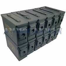 STENCILED 12-PACK NEW 30 CAL M19A1 MIL SPEC EMPTY AMMO CANS