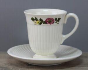 Wedgwood Edme Briar Rose Kaffeetasse mit Unterteller/Untertasse Untere Tasse