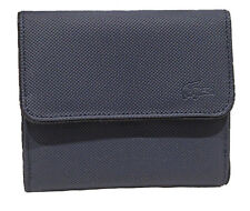 New Authentic Vintage LACOSTE Ladies Girls PURSE WALLET Classic 7 Navy Blue
