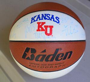 2003-04 Kansas University KU Jayhawks Team Autographed Basketball Self's 1st Yr.