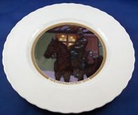 Antique Art Nouveau KPM Berlin Porcelain WWI Christmas Plate Porzellan Teller