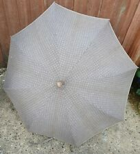 "Antique Gold Collar Spotted Umbrella Parasol 33"" possibly designer"