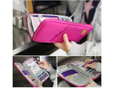 Glovebox organizer Pink Travel Passport Credit Card ID Organizer Holder zippered