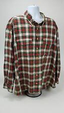 VTG Tommy Hilfiger Medium 3XLShirt Plaid Crest Logo Button Down Long Sleeve