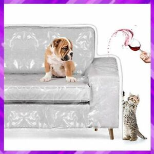 CAT SCRATCHING PROTECTOR Plastic Couch Cover Sofa Furniture Slipover HOMEMAXS