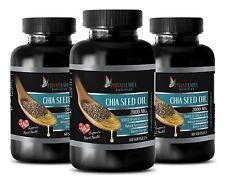 Appetite suppressant - CHIA SEED OIL 2000mg - 3 Bottles 180 Softgels