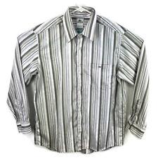Lacoste Mens 44 White Multi Color L/S Button Down Shirt 100% Cotton