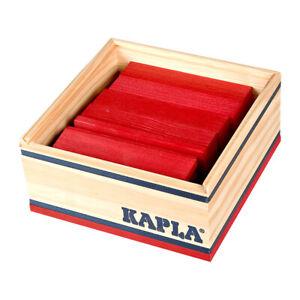 Kapla-Holzplättchen 40er Box Red Pine Wood Building Blocks Box (C40R) New! #