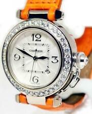 Cartier Pasha 32mm 18k White Gold & Diamond Automatic Watch 2398