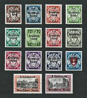 Nazi WWII Germany Danzig Rare WW2 Stamps Danzig Overprint Third Reich Collection