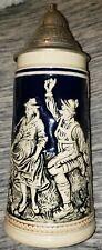 Mint Vintage German Marzi & Remy Oktoberfest Tankard Beer Stein Cobalt Blue Rare
