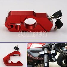 Stahl Anti-Diebstahl Motorrad Fahrrad Disc Schloss Rot+Schlüssel Sicherheit