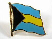 Bahamas Flaggen Pin Anstecker,1,5 cm,Neu mit Druckverschluss