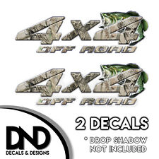 Skull Camo Bass 4x4 Wraps Off Road Decals 2 Pk Sticker Ford Chevy truck - D&3BF