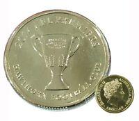 AUSTRALIA 2014 AFL HAWTHORN HAWKS PREMIERS  $1 DOLLAR UNC MINT COIN CARDED RAM