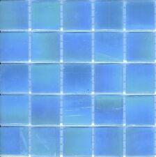 25pcs Bisazza Gloss Pearl GL 08 Blue Glass Mosaic Tiles 20mm x 20mm x 4mm