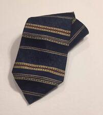 Barrington Silk Neck Tie Navy Blue Striped Wide Necktie NWOT