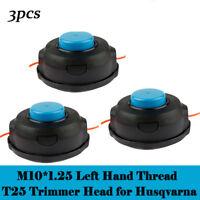3PCS Husqvarna T25 String Trimmer Auto Head W/Trimmer Line 966674401 537338306