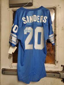 -NWT- 1990's -Barry Sanders- duel autograped Champion Detroit Lions NFL Jersey