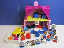 DUPLO lego PINK HOUSE mum dad FAMILY FIGURE SET car kitchen lounge bedroom 61B