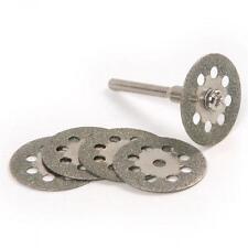 5Pcs  22 Mm Rotary Tools Mandrel Diamond Cutting Blades Bit Drill Emery