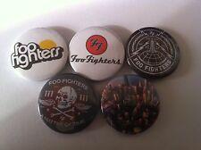 5 Foo Fighters Pin Button badges 25mm Nirvana The Pretender Everlong My Hero