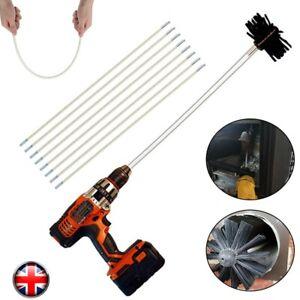 11X lengthened Chimney Sweep Set   Flue Sweeping Brush & Rod Kit   Soot Cleaning