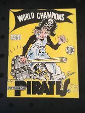 1961 Pittsburgh Pirates World Series Champions Yearbook Roberto Clemente