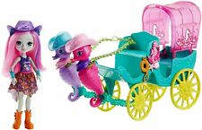 Enchantimals Sandella Seahorse, Friends and Western-Styled Coach Doll Playset